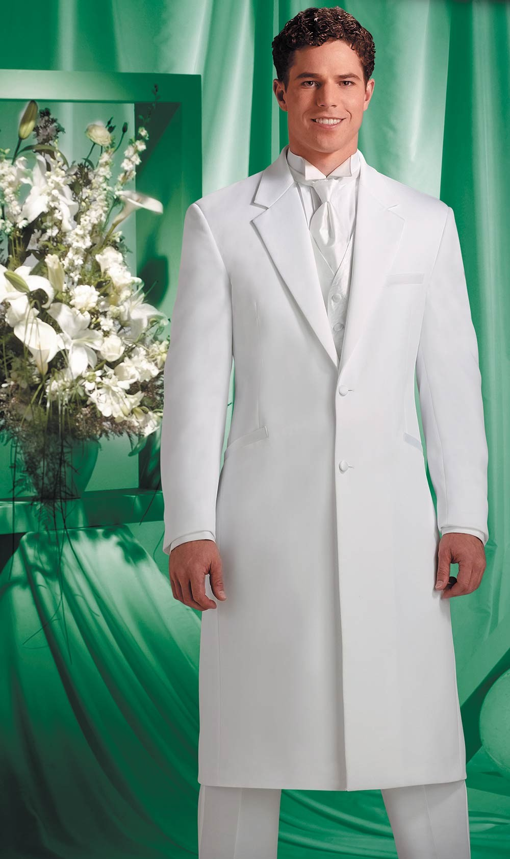 f6b322d951c Davnici XL  Extra-Long 2-Button Notch White Jacket by Andrew Fezza
