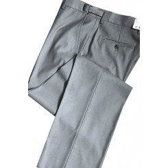 Heather Grey 150's Flat Front Suit Pants