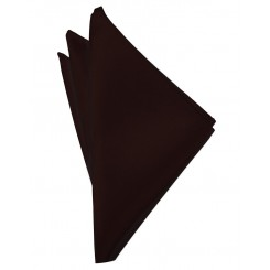 Truffle Solid Satin Pocket Square