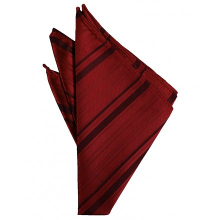 Apple Striped Satin Pocket Square