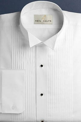 Image result for wing tip collar tuxedo shirt