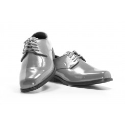 Revolution - Gloss Grey Tuxedo Shoe