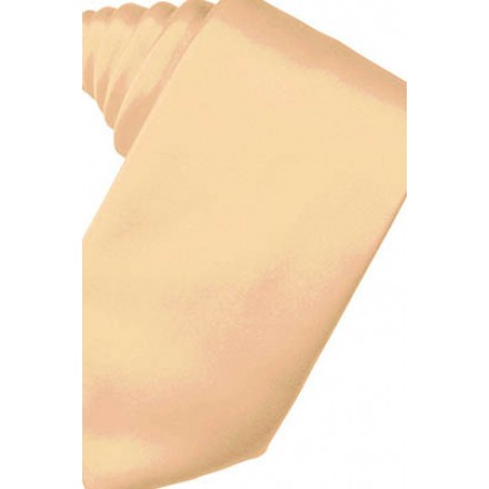 Apricot Solid Satin Suit Tie