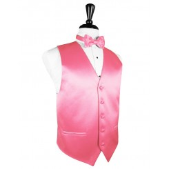 Bubblegum Solid Satin Vest