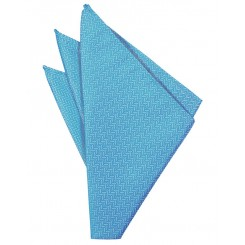 Blue Ice Herringbone Pocket Square
