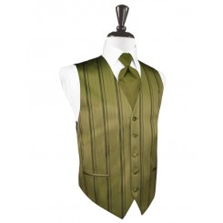 Fern Striped Satin Vest