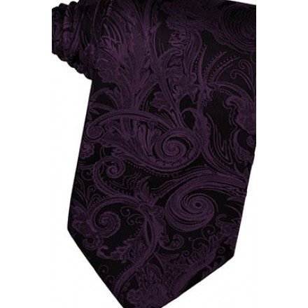 Berry Tapestry Suit Tie