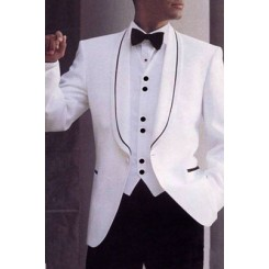 'Chicago WB' Shawl 1-Button Tuxedo Jacket by Private Label