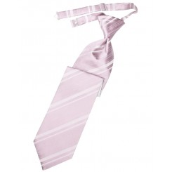 Blush Striped Satin Long Tie