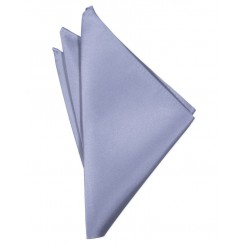 Periwinkle Solid Satin Pocket Square