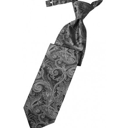 Silver Tapestry Long Tie