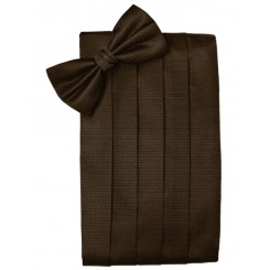 Chocolate Herringbone Cummerbund