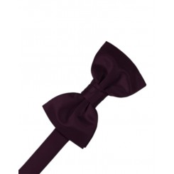 Berry Solid Satin Bowtie