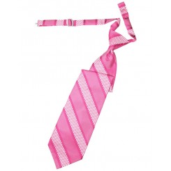 Bubblegum Venetian Stripe Long Tie