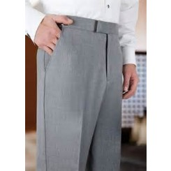 Heather Grey SLIM-FIT Flat Front Tuxedo/Suit Pants