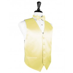 Canary Solid Satin Vest