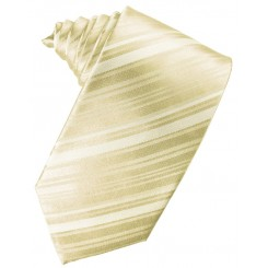 Bamboo Striped Satin Suit Tie