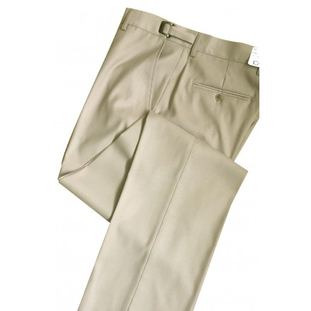 Aspen Tan Super 150's Slim-Fit Flat Front Suit Pants