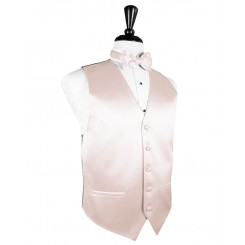 Blush Solid Satin Vest