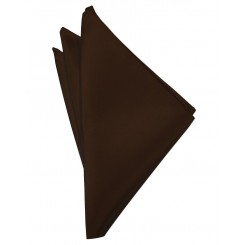 Chocolate Solid Satin Pocket Square