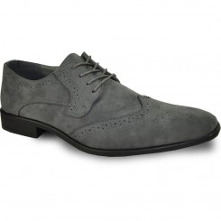 'Roland' Wing-Tip Oxford in Grey