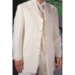 Samaritan' Ivory 5-Button Notch Tuxedo Jacket by Andrew Fezza