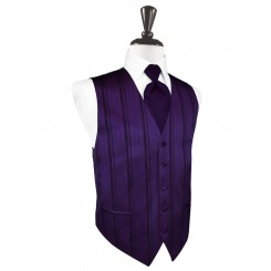 Amethyst Striped Satin Vest