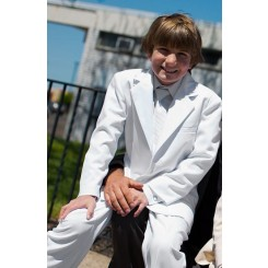 Communion Suit in White for Purchase