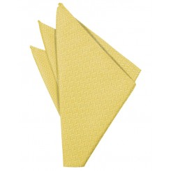 Buttercup Herringbone Pocket Square