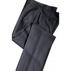 Charcoal 150's SLIM-FIT Flat Front Suit Pants