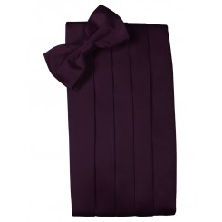 Berry Solid Satin Cummerbund