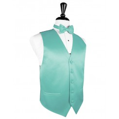 Mermaid Solid Satin Vest