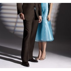 Brown Traditional Wool Pleated Tuxedo Pants
