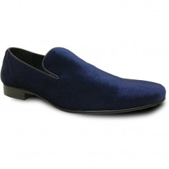 'Klein' Blue Velvet Slip-On Shoes
