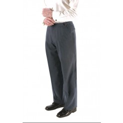 Charcoal SLIM-FIT Flat Front Tuxedo/Suit Pants