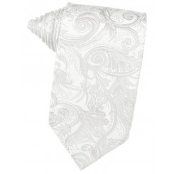 White Tapestry Suit Tie