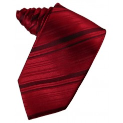Apple Striped Satin Suit Tie