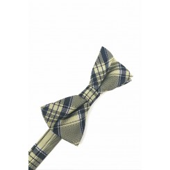 Plaid Bow Tie in Yellow by Cardi