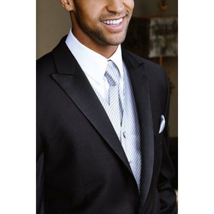 The Sorrento Black Peak 1-Button Tuxedo