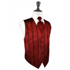 Apple Striped Satin Vest