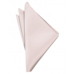 Blush Solid Satin Pocket Square
