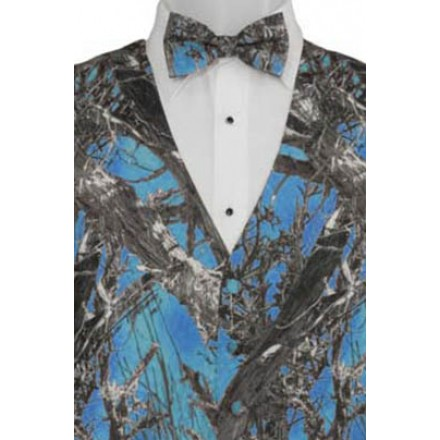 Blue True Timber Camouflage Print Vest