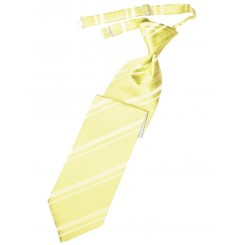 Canary Striped Satin Long Tie