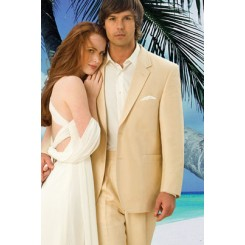 Destination' Tan Wedding Suit Jacket by Private Label