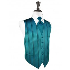 Oasis Striped Satin Vest