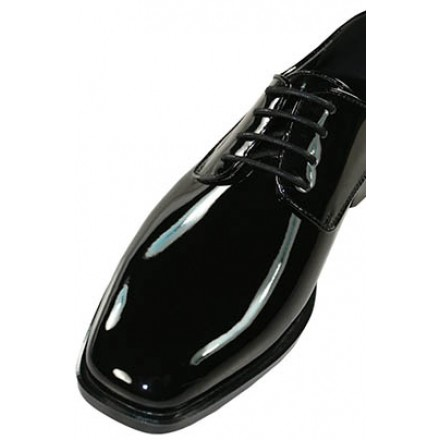 Revolution - Gloss Black Tuxedo Shoes