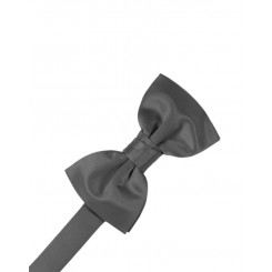 Pewter Solid Satin Bowtie
