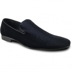 'Klein' Black Velvet Slip-On Shoes