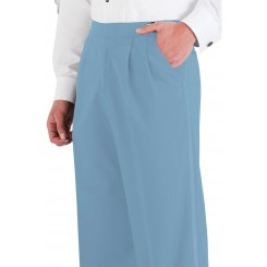 Light Blue Pleated Tuxedo Pants