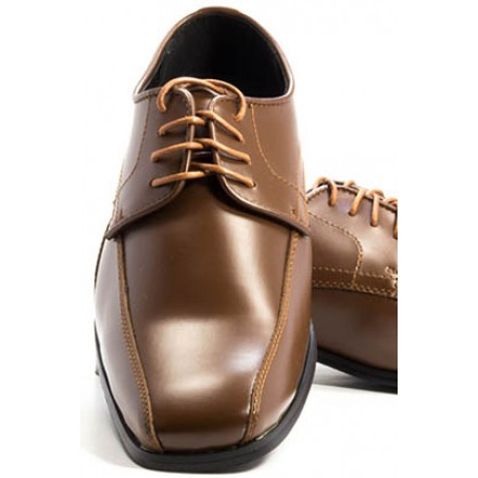Oxford - Matte Brown Tuxedo Shoe